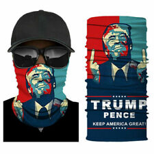 Motorcycle Bike Rider Balaclava Scarf USA Trump Pence Neck Gaiter Face Cover