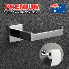 Premium Stainless Toilet Paper Roll Holder Bright Steel Square Bathroom AU