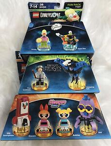 Lego Dimensions Mix Bundle Of 3 Packs - Fun Packs - Brand New - UK SELLER 🇬🇧