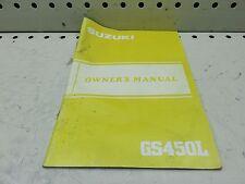 1984 SUZUKI GS450L OWNER OPERATORS MANUAL  (SSM-17)
