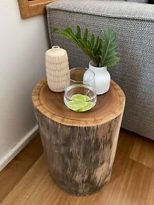 Handmade timber stump stool/side table