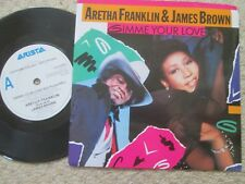 "Aretha Franklin & James Brown Gimme Your Love Arista 112 727 Vinyl 7"" Single"