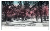 Early 1900s University Avenue, Minneapolis, MN Postcard