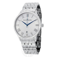 Alexander Men's A103B-01 Triumph Silver Dial Stainless Steel Swiss Quartz Watch