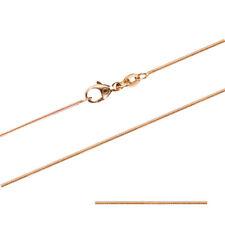 0,8 mm 45 cm 750 Gold Schlangenkette rund  Goldkette 14 kt massiv Gold  3,1 g