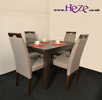 Extending dining table in dark wood, oak wenge, small, perfect