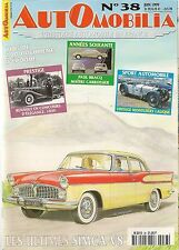 AUTOMOBILIA 38 SIMCA V8 57 61 VEDETTE PRESIDENCE CHAMBORD PEUGEOT 203 1948 60