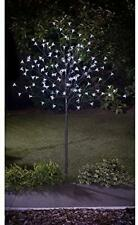 More details for solar powered 4ft outdoor decorative led white blossom tree