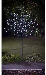 Solar Powered 4ft Outdoor Decorative LED White Blossom Tree