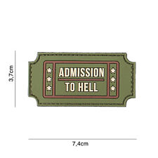 Admission to Hell multi #3135 Patch Klett Abzeichen Airsoft Paintball