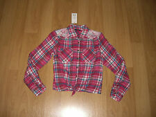 Girls' Collar Checked T-Shirts, Tops & Shirts (2-16 Years)