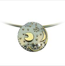 Sternenschmuck Himmelsscheibe von Nebra 25mm Anhänger 925/- Silber vergoldet