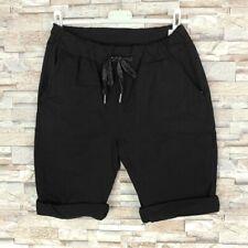 MADE IN ITALY Bermuda Shorts Strandhose Blogger Crash Optik schwarz 36 38 40