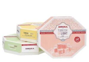 160g NO ADDED SUGAR Rose & Lemon Pistachio Turkish Delight Vegan Kosher Sweet