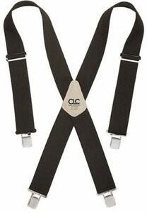 CLC Custom Leathercraft 110BLK Heavy Duty Work Suspenders Tool Belt Black 1 Pc