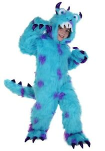 Kids Monsters Inc Sulley Sullivan Blue Furry Monster Size XS S L (Used)