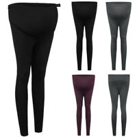 Women Casual Warm Pregnancy Leggings Support Belly Pants Maternity Trousers