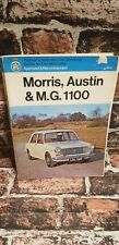 Morris, Austin & MG 1100 Pearson'S RAC MANUTENZIONE SERIE per i driver Proprietario Manuale