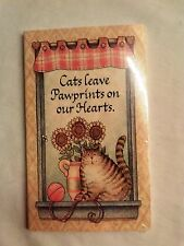 """80 sheets pocket size Sticky notes: """"Cats leave pawprints on our hearts"""""""