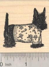 Christmas Scottish Terrier Dog in Sweater Rubber Stamp Scottie, Scotty H19508 WM