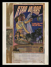 "ORIGINAL ROLLED Star Wars Style ""D"" 30""x40"" Theater Lobby Display Movie Poster!!"