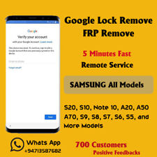 Samsung All Models FRP Remove S10 S20 A10 A20 A50 A70 ( Fast 5 Minutes Service )
