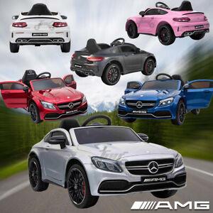 Kids Official Licensed Mercedes Benz C63 AMG Ride on Car 12V Battery Remote