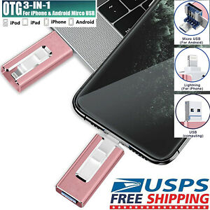 64-512GB Durable USB 3.0 Flash Drives Memory Stick Pen U Disk Key for Apple iPad