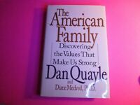 **SIGNED** THE AMERICAN FAMILY by Dan Quayle HB/DJ First Edition 1996 1st print
