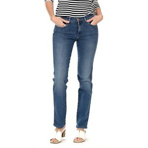 Wrangler Damen Jeans, Frauenjeans W27GKY93B High Rise Slim Real Blue