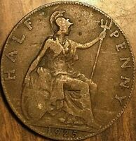 1925 UK GREAT BRITAIN HALF PENNY