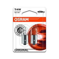 2x Genuine Osram Original T4W (BA9s / 233) 4w 12v Clear Bulbs [3893-02B]