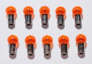 10 Yellow Amber Orange Dash Panel Cluster Gauges Clock Glove Box Light Bulbs