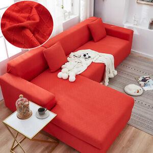 Diamond Jacquard Sofa Cover L Shape Slipcover Microfiber Sectional 1 2 3 4 Seat
