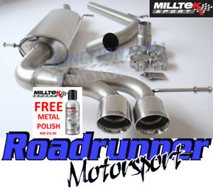 "Milltek Seat Ibiza Cupra / Bocanegra 1.4TSI 180PS Exhaust Cat Back Non Res 2.76"""