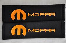 Orange Chrysler Mopar Pair of Soft Seat Belt Cover Shoulder Pad Embroidery Soft