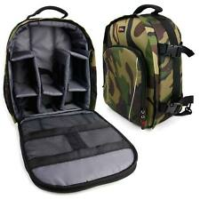 Camo Backpack/Rucksack for Vivitar ViviCam S332 / T324 Camera w/ Rain Cover
