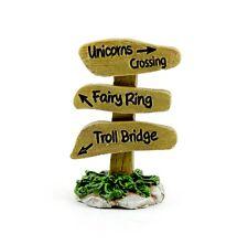 Unicorn Crossing  Fairy Ring  Troll Bridge Sign MI 51711 Miniature Fairy Garden
