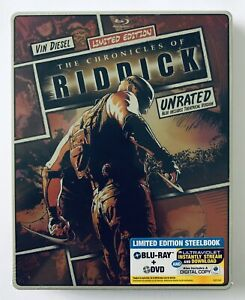 Chronicles Of Riddick (Blu-Ray + DVD) Steelbook NEW & SEALED** Limited Edition