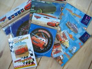 Birthday Party Pack - Disney Cars - Banner, Table Cover, Holographic Card