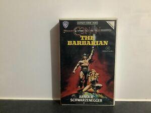 CONAN THE BARBARIAN. 1988 VHS/PAL. ARNOLD SCHWARZENEGGER. BIG BOX. EX-RENTAL