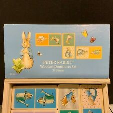 Beatrix Potter Peter Rabbit Wooden Domino Game Set 28 Pieces