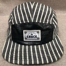 Original Chuck Leatherette Linen Striped Snapback Baseball Hat