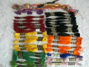 👀 Vintage 💖  DMC ~ 34 +  ~  Embroidery Floss Skeins Thread Mixed Color Lot 👀