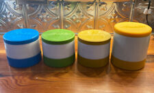 4 VINTAGE ALADDIN FOOD THERMOS Jar Hot Cold Soup Insulated Freezer 3/7000 1/7100