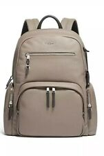 TUMI CARSON VOYAGEUR BACKPACK Leather -  Beige - NWT