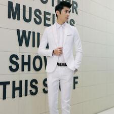 Men Business Suit One Button Slim Blazer Pants Set Formal Wedding Party Dresses