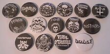 15 D-Beat button Badges 25mm Disrape Warvictims Discharge Disclose Hot Graves