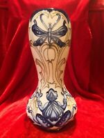 Beautiful Rare Moorcroft Vase In The Frog And Dragonfly Design
