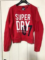 SuperDry Red T-Shirt Size XL Womens Long Sleeve Great Condition (D400)